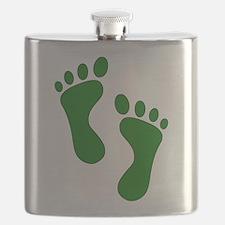 Green Feet Flask