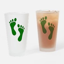 Green Feet Drinking Glass