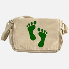 Green Feet Messenger Bag
