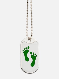 Green Feet Dog Tags