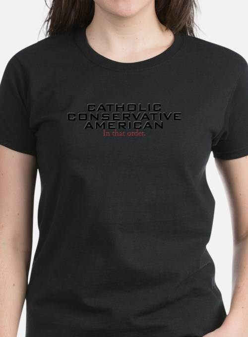 Cute Catholic conservative american Tee