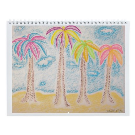 Colorful Palms Wall Calendar