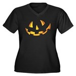 Halloween Jack O Lantern Women's Plus Size V-Neck