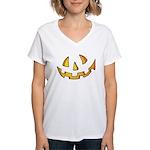Halloween Jack O Lantern Women's V-Neck T-Shirt