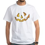 Halloween Jack O Lantern White T-Shirt