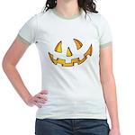 Halloween Jack O Lantern Jr. Ringer T-Shirt