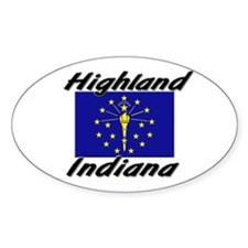 Highland Indiana Oval Decal