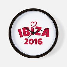 Ibiza 2016 Wall Clock