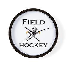 Unique Girl field hockey Wall Clock