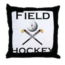 Cute Field hockey girl Throw Pillow