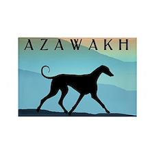 Blue Mountains Azawakh Rectangle Magnet