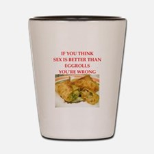 a funny food joke Shot Glass
