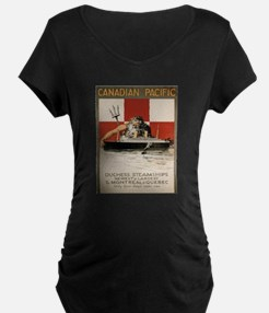 Vintage poster - Canadian Pacifi Maternity T-Shirt