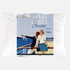 Vintage poster - Great Lakes Cruises Pillow Case