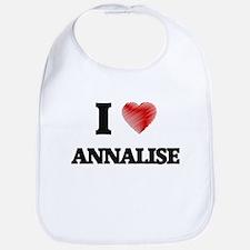 I Love Annalise Bib