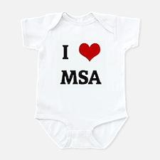 I Love MSA Infant Bodysuit