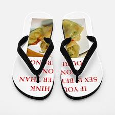 a funny food joke Flip Flops