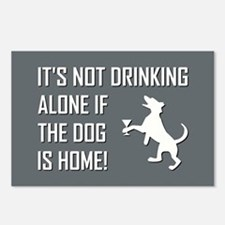 IT'S NOT DRINKING ALONE... Postcards (Package of 8