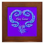 Mon Coeur Framed Art Tile