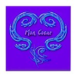 Mon Coeur Purple Art Tile