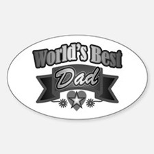 father's day world's best dad Decal