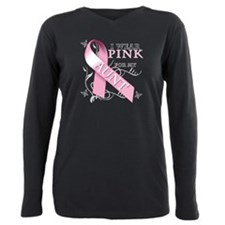 Funny I wear pink for my aunt Plus Size Long Sleeve Tee