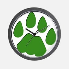 Green Cougar Track Wall Clock