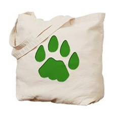 Green Cougar Track Tote Bag