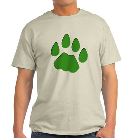 Green Cougar Track Light T-Shirt