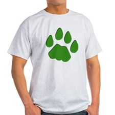 Green Cougar Track T-Shirt