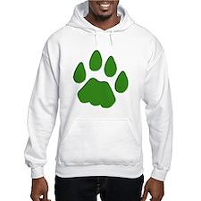 Green Cougar Track Hoodie