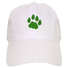 Green Cougar Track Baseball Baseball Cap