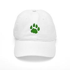 Green Cougar Track Baseball Cap