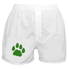 Green Cougar Track Boxer Shorts