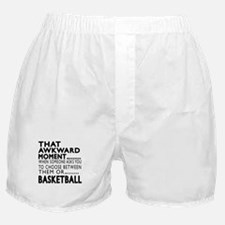 Basketball Awkward Moment Designs Boxer Shorts