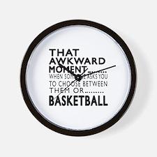 Basketball Awkward Moment Designs Wall Clock