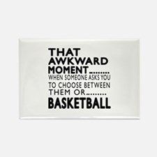 Basketball Awkward Moment Designs Rectangle Magnet