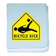 Unique Soccer bicycle kick baby blanket