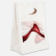 Red Streamers Canvas Lunch Tote