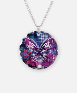 Contemporary Sparkly Butterfly In Purple and Blue