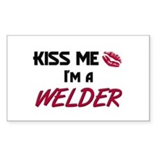 Kiss Me I'm a WELDER Rectangle Decal