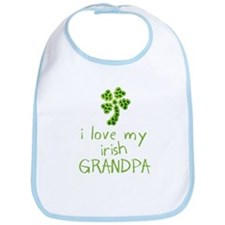I Love my Irish Grandpa Bib