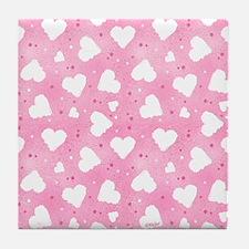 Confetti Hearts Tile Coaster