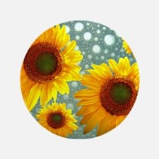 Happy Bubbly Sunflowers Button