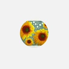 Happy Bubbly Sunflowers Mini Button (100 pack)