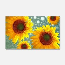 Happy Bubbly Sunflowers Car Magnet 20 x 12