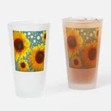 Happy Bubbly Sunflowers Drinking Glass