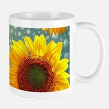 Happy Bubbly Sunflowers Mugs