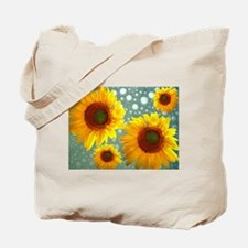 Happy Bubbly Sunflowers Tote Bag