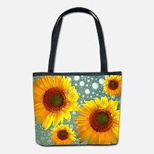 Happy Bubbly Sunflowers Bucket Bag
